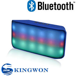 Kingwon 2015 new flashed light portable wireless mini bluetooth singing table speaker