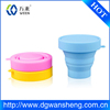 silicone fold mug cup,hot sell factory Travel Portable Rubber Silicone Folding Cup