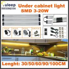 Factory wholesale,retail led cabinet light,linkableled under cabinet light with sensor,dimmer switch,300,500,600,900,1000,1200mm