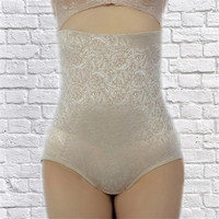 S111-5 big size OEM export sexy lace Japanese underwear high waist mature good quality top brand shapewear panties for fat women