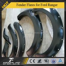 ABS Black Fender Flares Flare Wheel Arch 4Door Double Cab Fit for Ford Ranger T6 2012-2014