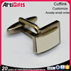 Promotion gifts metal gold cufflinks