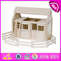 2015 new children wooden doll house,high quality kids wooden doll house,popular baby wooden doll house WJ278707
