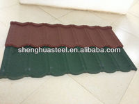 Metal spanish slate tile effect roofing sheets