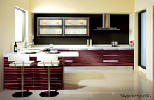 Chian factory Indian style modular high gloss lacquer pictures of kitchen cabinets