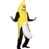 Adult Banana Fruit Fancy Dress Costume Comedy Stag / Hen Night Outfit Full Suit BMG2274