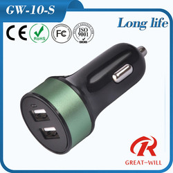 2015 top selling 5V 3.1A quick electric mobile phone usb dual car charger