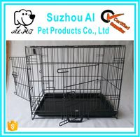 "Pet 24"" Folding Pet Crate Kennel Wire dog Cage for Sale Cheap"
