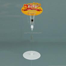 plastic spring shelf wobbler clip for advertising