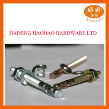 grade 4.8 zhejiang made high quality carbon /stainless steel zinc plated wedge anchor