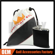 OEM/ODM Logo PU Leather Golf Valuables Pouch For Golf Gift