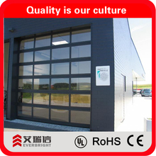 aluminum tempered frosted glass door for garage