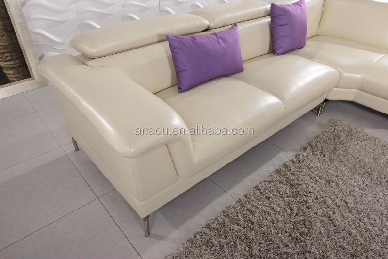 Sofa woonkamer meubels, witte leren bank l vorm, canapes modernos ...