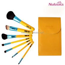 7pcs beauty brush set with mirror