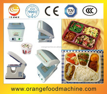 Semi-automatic plastic lunch tray sealing machine,manual fast food sealer