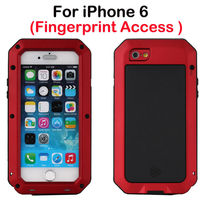 2015 New Trend dirt /shock /waterproof with fingerprint access Alloy Metal cell phone accesories waterproof for iphone6 case