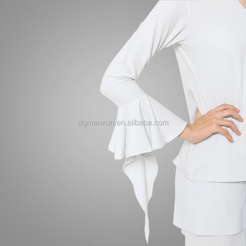 Newest white muslim women baju kurung wholesale islamic plus size women clothing6.jpg