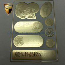 24K gold Phone stickers3D
