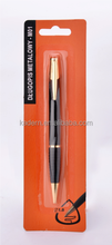 blister card packing metal ball pen,metal pen