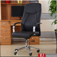 Black executive leather chair famous brand office furniture for big people