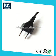 2m Figure 8 C7 to Euro EU European 2 Pin AC Plug Power Cable Lead Cord