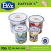 Warehouse Plastic Storage Bins:airtight watertight microwave round plastic airtight spice jars