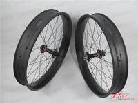 New fat wheel High-Profile 80/90/100mm Carbon Fatbike Wheels with Carbon Fat Bike Rim, 190mm QR
