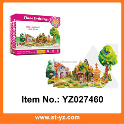 Three Little Pigs Story DIY Educational Toy Intelligent DIY Happy 3D Puzzle