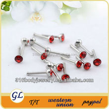 NR01038 crystal piercing attractive design nose ring
