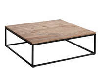 Industry coffee table wood, MDF coffee table powder coating