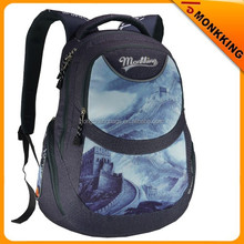 2015 fashion daily backpack with beautiful landscapes printing