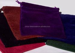 Top quality new designed colors wedding drawstring Velvet Pouch 13 x 18cm