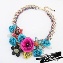 Fashion Multicolor Artificial Flower Necklace