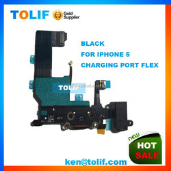 Wholesale Replacement Original Dock Connector For Iphone 5 5G USB Charger Flex Cable Ribbon Black