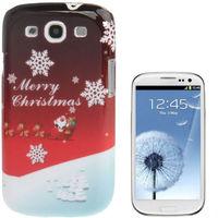 2013 Christmas Snowflake Plastic Case for Samsung Galaxy S3