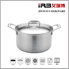 IRB 8-Qt Tri-Ply Clad Stock Pot with Lid, Stainless Steel WOOKWARE 2012