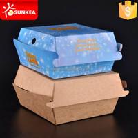 Custom design printed KFC paper burger box