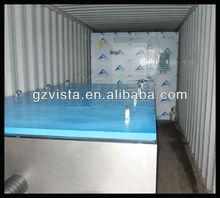 4000kg Máquina fabricadora de hielo en bloques tipo contenedor con cámara frío