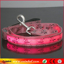 8 Colors Cartoon Pattern LED Flashing Light Dog Pet Rope Belt Harness Safety Glow Wholesale Nylon Leash Lead