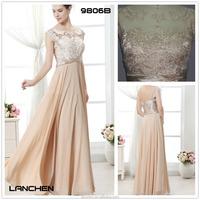 9806A Champagne Color Sexy Lace Dress Design Women Dress