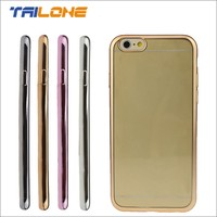 wholesale cell phone accessories in china tpu electroplate phone skins clear case