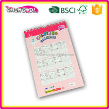 High Quality mini wood free paper 2016 calendar with notepad