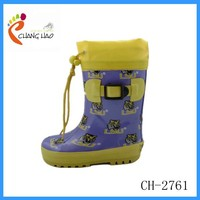 Cheap Kids Rain Boots with Cuff /Wellington Boot/Gumboot