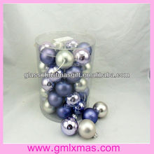 Dongguan produce glass ornament high quality barrelled Packaging Christmas glass ball