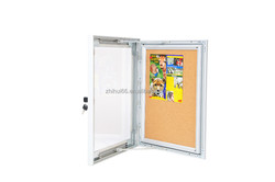 Aluminum lockable poster frame with cork for advertising