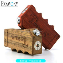 2015 Unique Design Tesla Ecig box mod tesla Invader 2 Vapor mod Rosewood Tesla invader II best price and fast delivery
