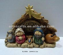 2015 Christmas nativity set made of pottery