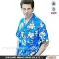 Impressão de manga curta camisa havaiana ou camisa
