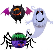 party accessory paper ghost/spider/bat halloween paper props set
