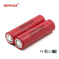 Huge stock! 2500mah LG he2 18650 battery rechargeable li-ion battery volta car batteries